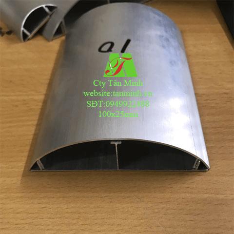 Ghen bán nguyệt nhôm D100(100x25mm)