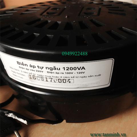 Biến Áp Đổi nguồn 1200VA 220V - 110V/120V