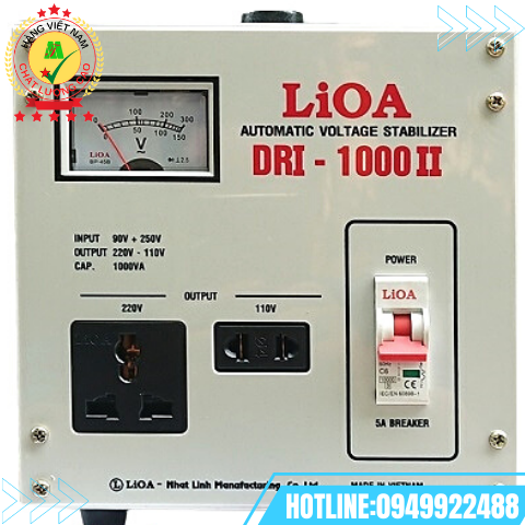 ỔN ÁP LIOA 1 PHA 1KVA DRI-1000II