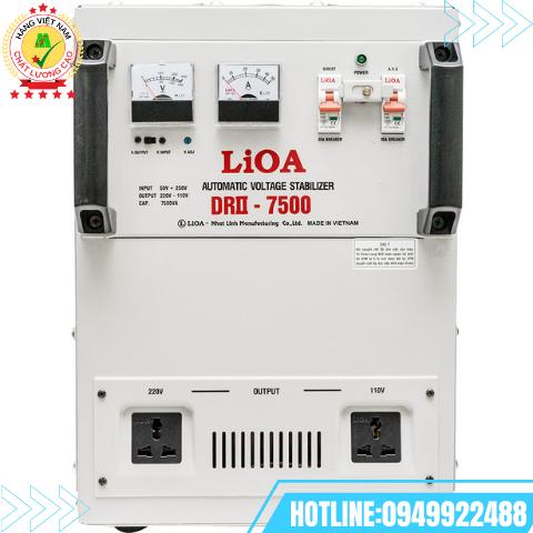 Ổn áp LiOA 1 pha 7,5kVA DRII-7500II