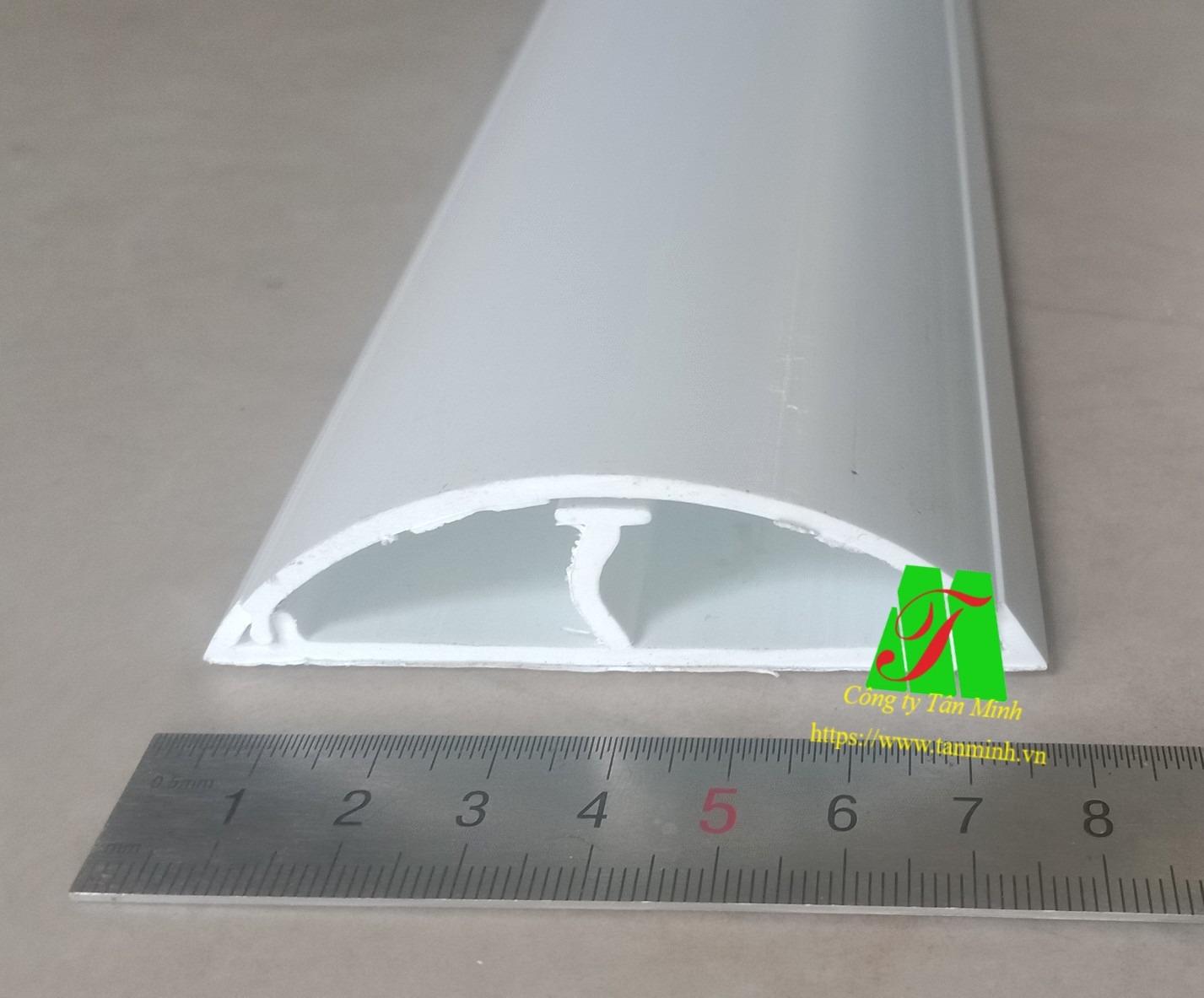 Nẹp sàn bán nguyệt D80x22x1200mm