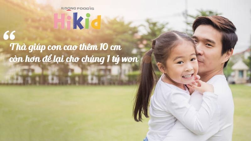 Sữa Hikid tăng chiều cao cho trẻ từ 1-9 tuổi