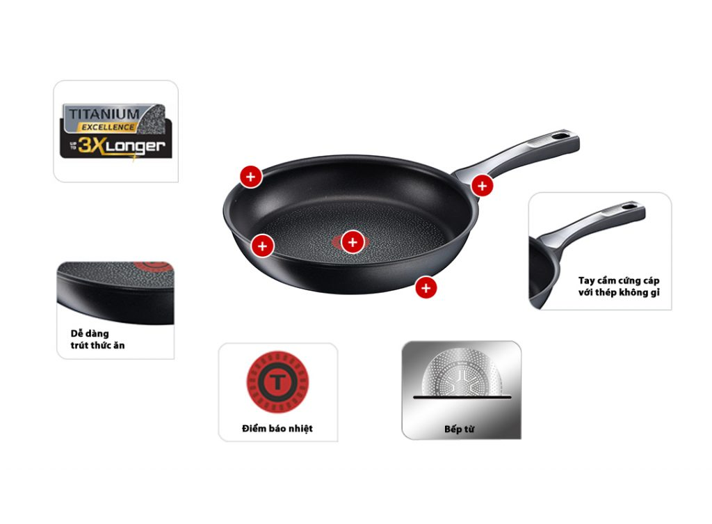 CHẢO TEFAL EXPERTISE 24 CM - MADE IN FRANCE