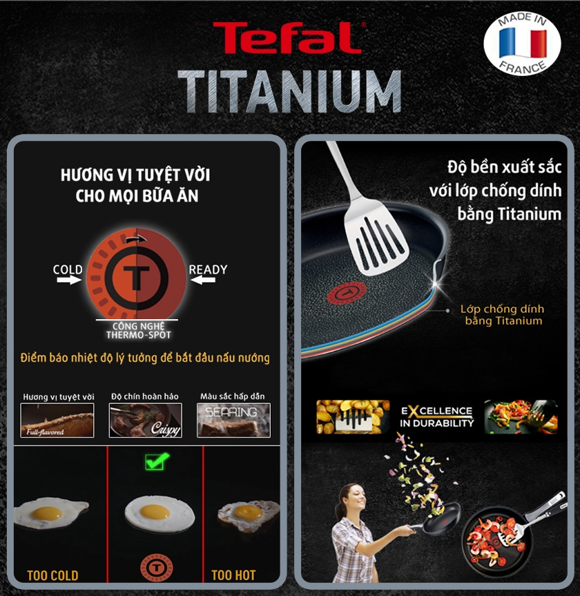 CHẢO TEFAL EXPERTISE 28 CM - MADE IN FRANCE
