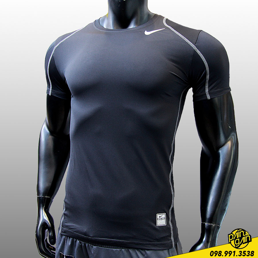 Áo Thun Thể Thao Nike Viền Chỉ