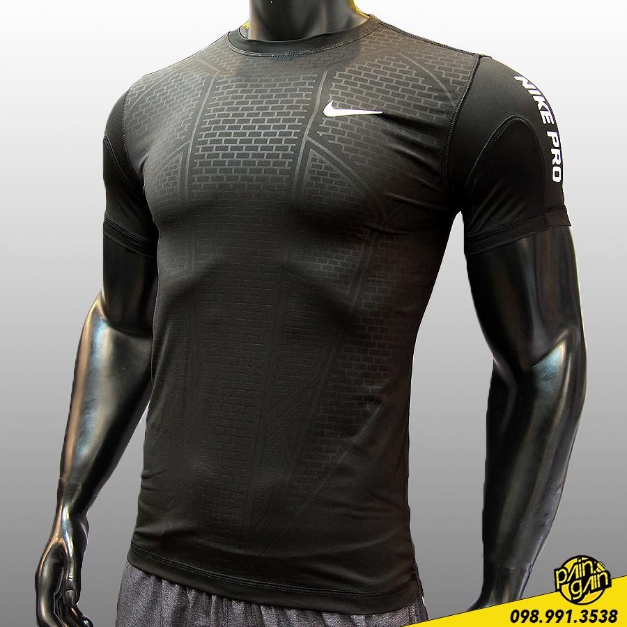 Áo Nike-Pro Hoạ Tiết Chìm