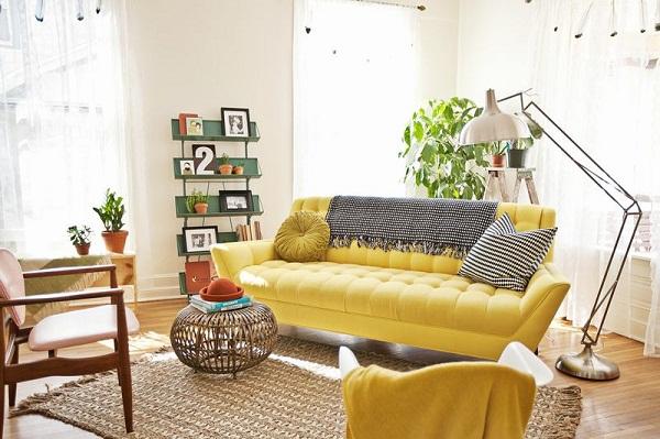 Kết quả hình ảnh cho sofa vàng tươi