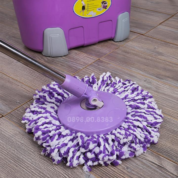 Bộ cán chổi lau nhà bàn xoay Nhựa