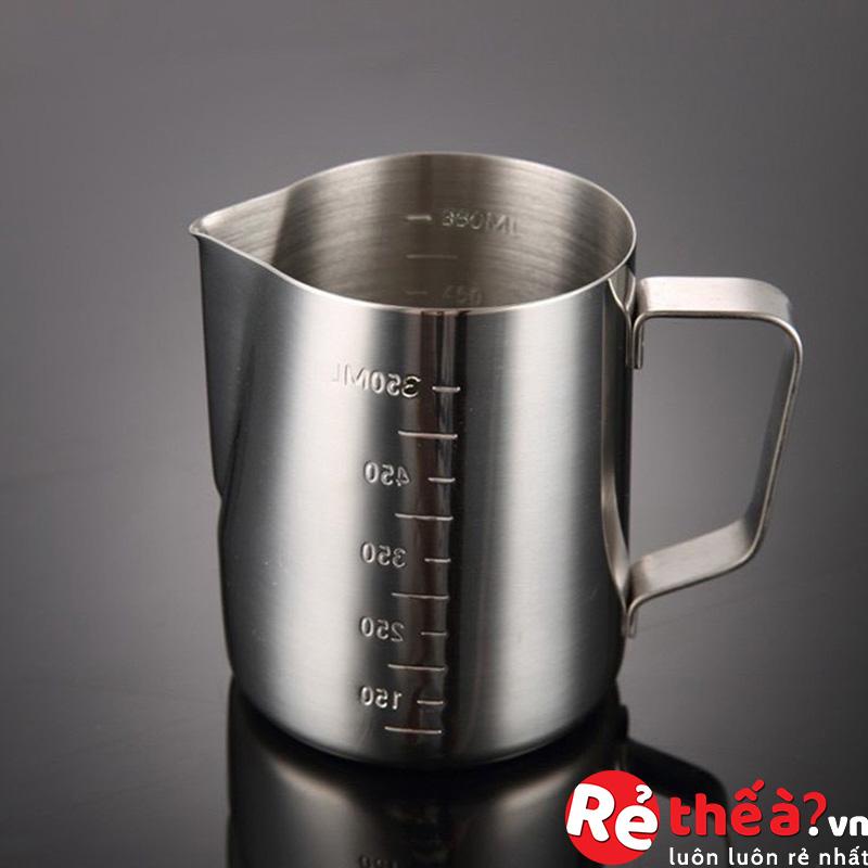Ca đánh sữa inox, ca rót sữa 350ml/550ml