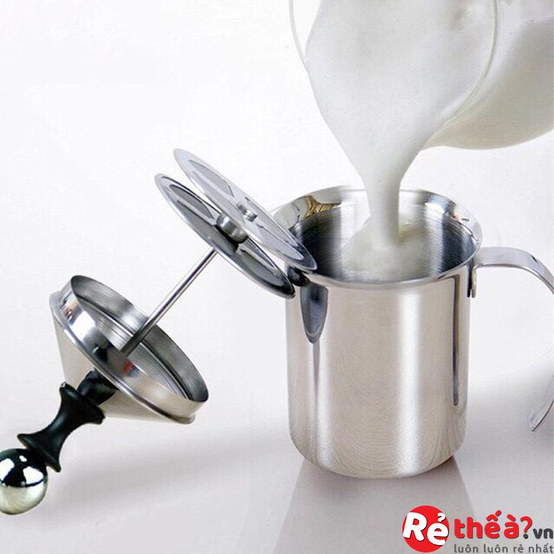 Ca đánh sữa lạnh tạo bọt hai lớp dung tích 400ML/ 800ML