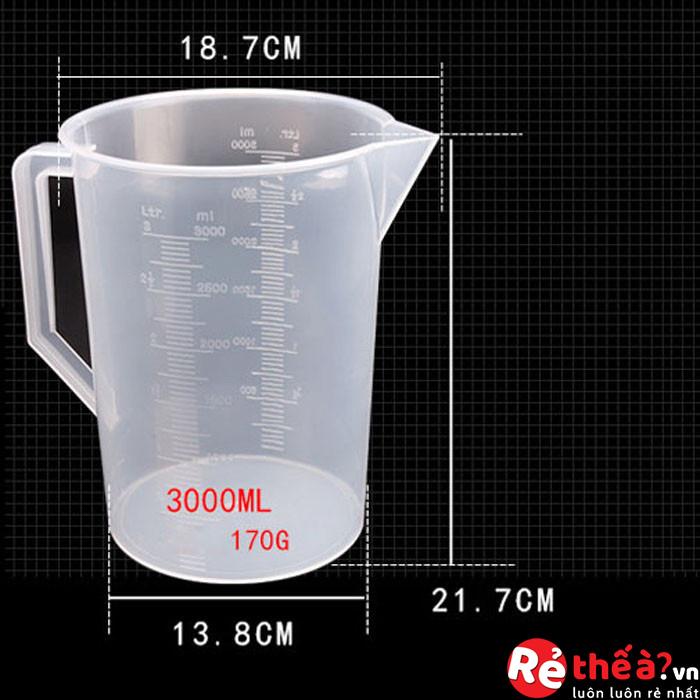 Ca Đong Định Lượng Nhựa Có Chia  Full Size