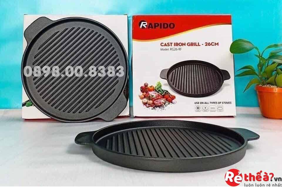 Chảo nướng tròn RAPIDO MODEL RG24-RF