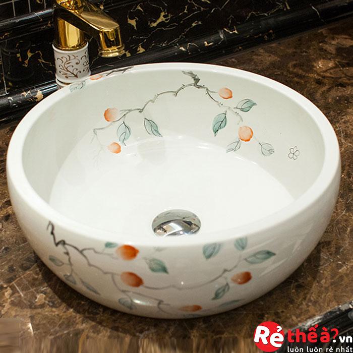 Chậu rửa gốm sứ nghệ thuật LAVABO LAV0069