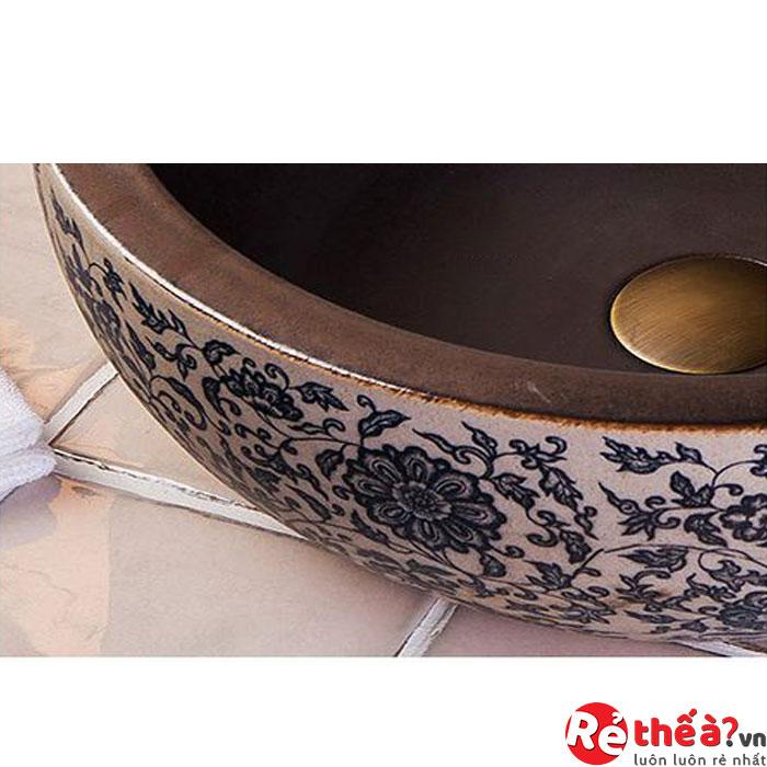 Chậu rửa gốm sứ nghệ thuật LAVABO LAV0087