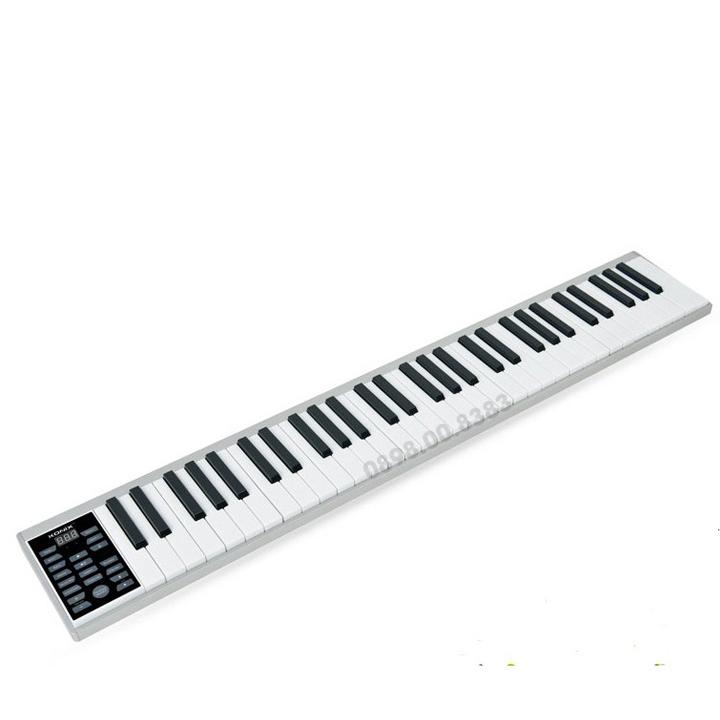 Đàn Piano điện 61 phím cảm ứng lực Konix Flexible PZ61 - Pin sạc 1100mAh