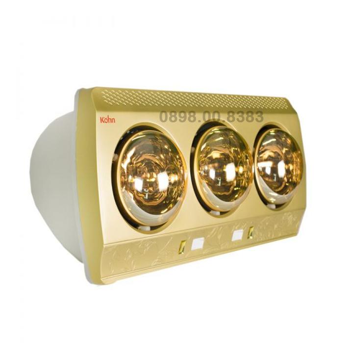 Đèn sưởi phòng tắm 3 bóng cao cấp KOHN-KN03G-825W