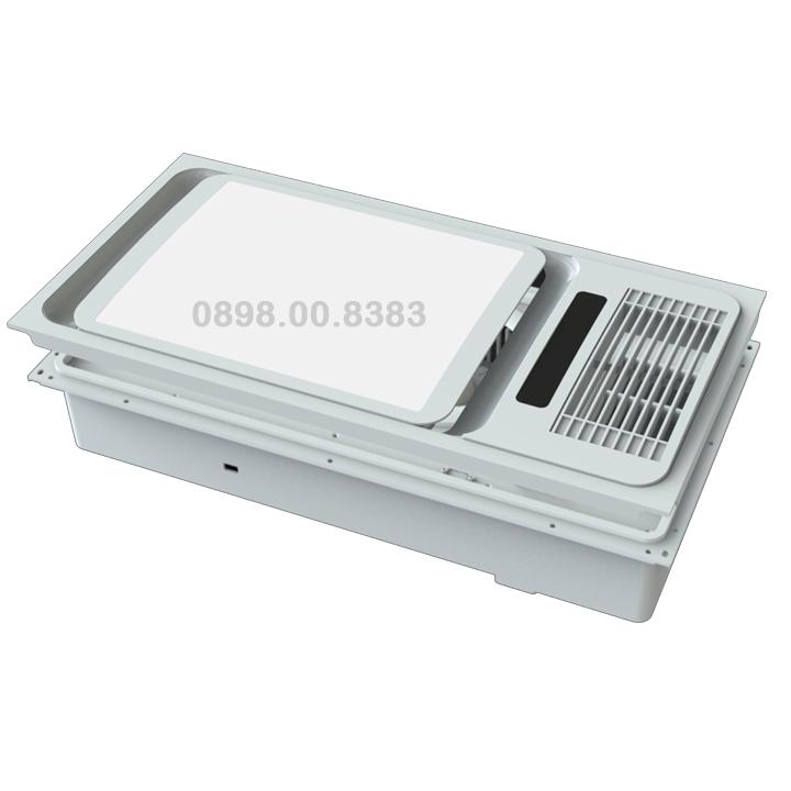 Đèn sưởi phòng tắm âm trần cao cấp BRAUN-KOHN-LUXURY-PT02-2800W
