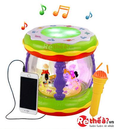 Đồ chơi trống điện tử, nghe nhạc, mp3 BONGO BABY