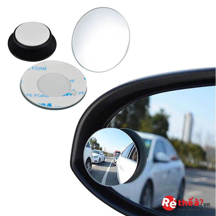 Gương cầu lồi dán gương chiếu hậu xóa điểm mù ô tô