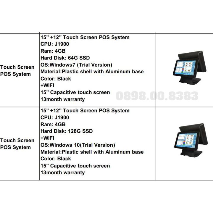 Máy bán hàng cảm ứng 2 màn hình iCA-POS-CA8500