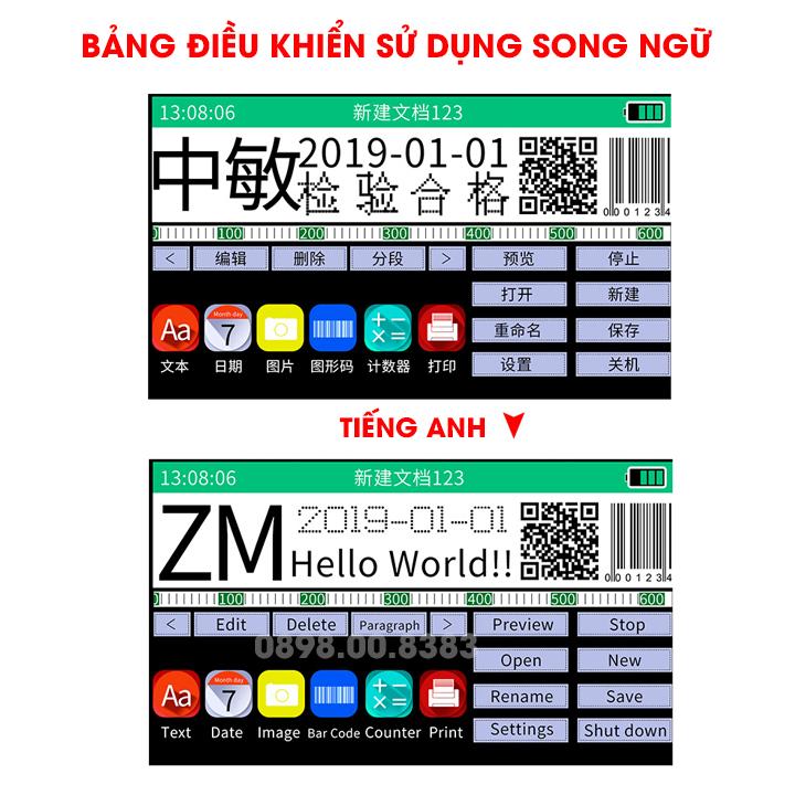 Máy in date cầm tay mini ZM630