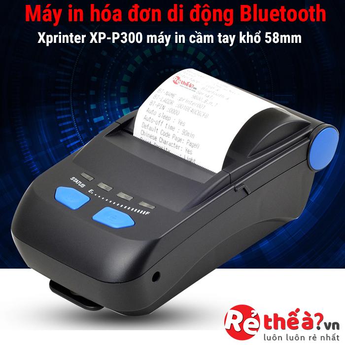 Máy in hóa đơn di động cầm tay XPRINTER-P300