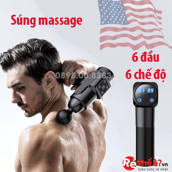 Máy Massage cầm tay 6 chế độ căng nhức cơ cho người tập GYM