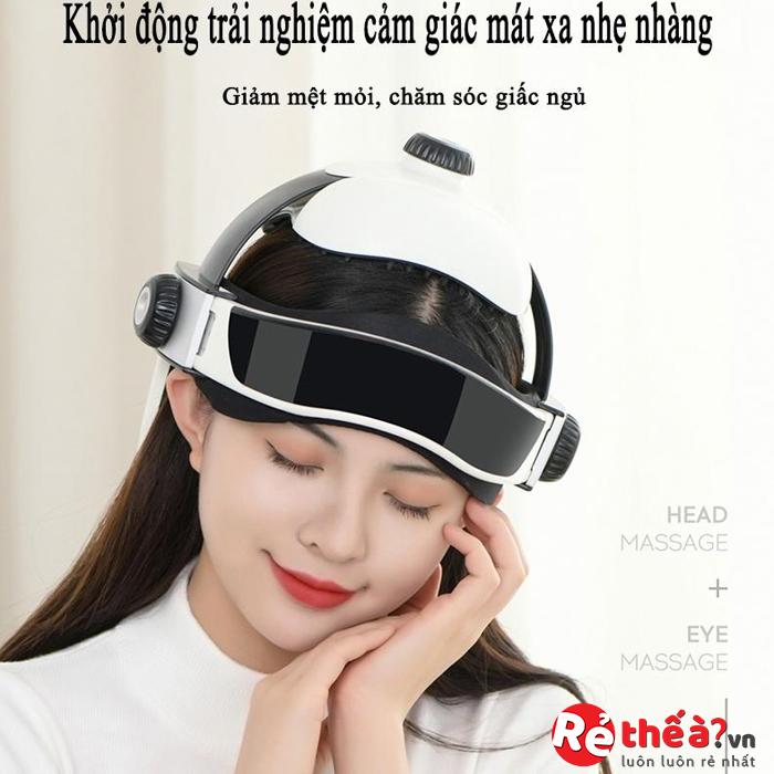 Máy Massage đầu, giảm đau, tăng tuần hoàn máu não, chống mất ngủ