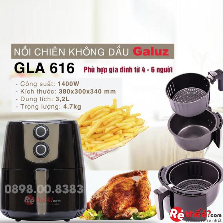 Nồi chiên không dầu cơ GALUZ GLA-301 3.2L
