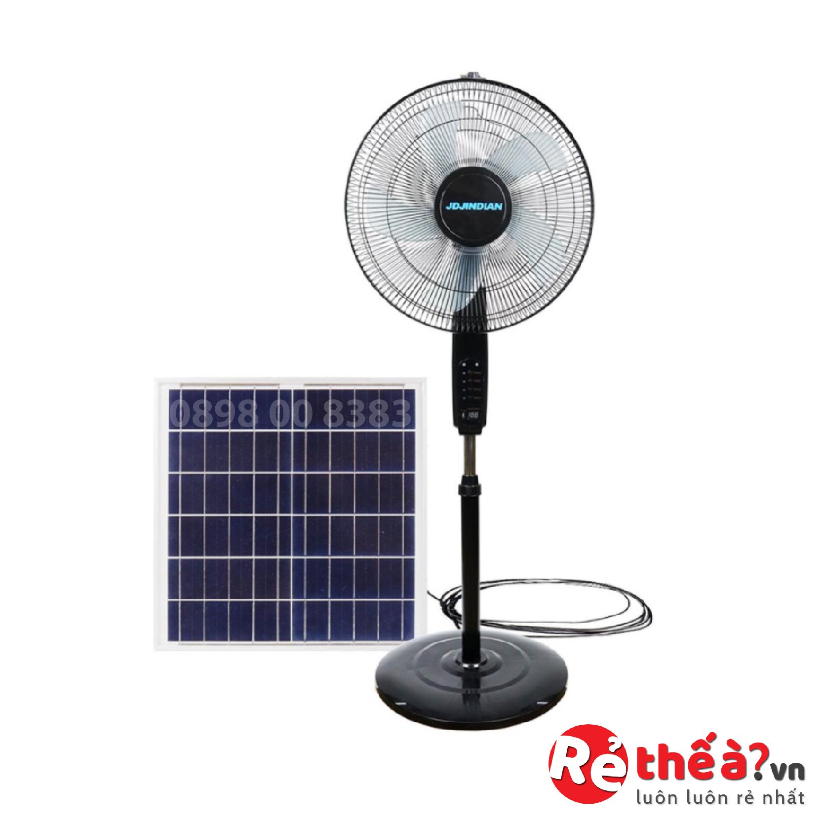 Quạt tích điện năng lượng mặt trời JINDIAN JD-S8800L