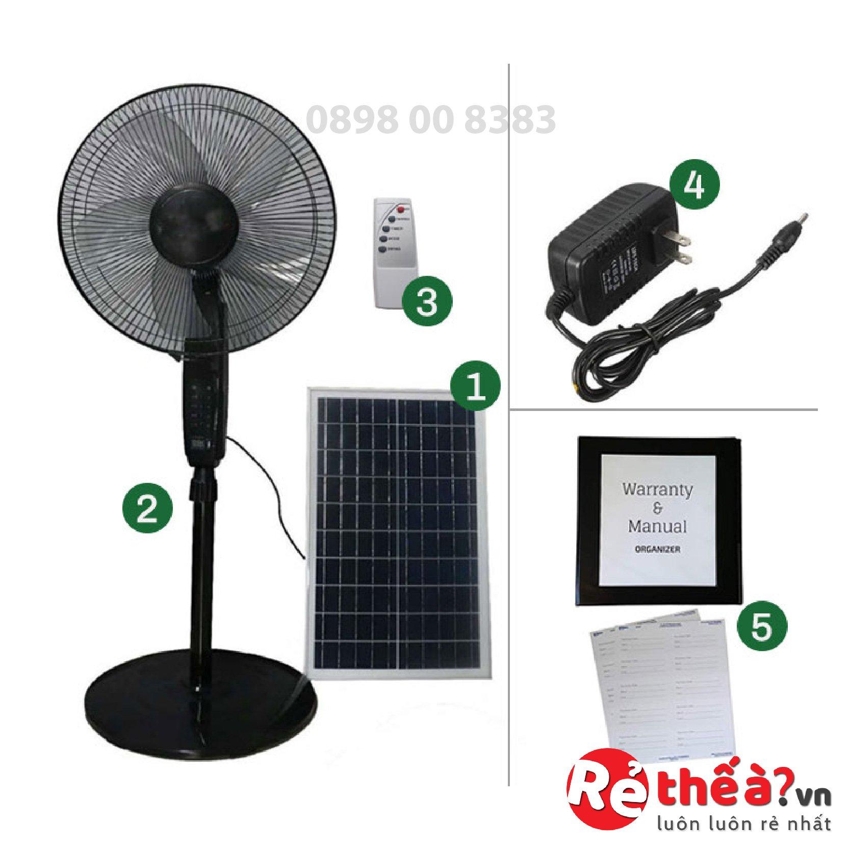 Quạt tích điện năng lượng mặt trời JINDIAN JD-S88