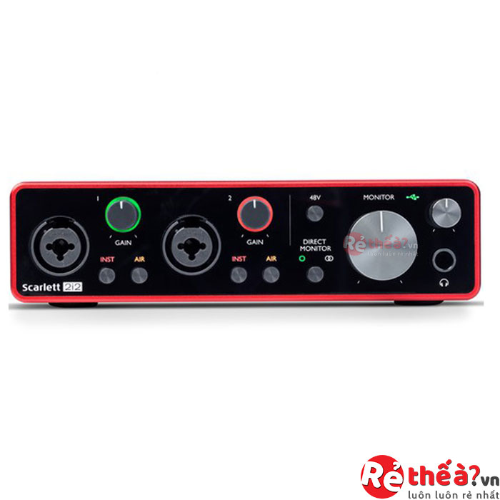 Sound Card Âm Thanh Focusrite Scarlett 2i2 Gen 3 - USB Audio Interface With Pro Tools (3rd Generation)