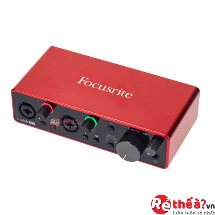 Sound Card Âm Thanh Focusrite Scarlett 2i2 Studio (3rd Gen) - USB Audio Interface and Recording Bundle with Pro Tools