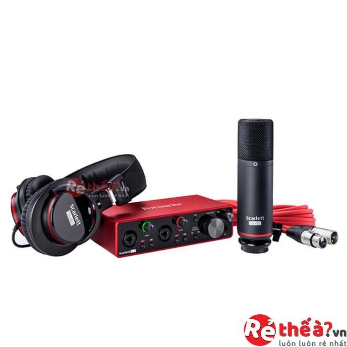 Sound Card Âm Thanh Focusrite Scarlett 2i2 Studio (3rd Gen) - USB Audio Interface and Recording Bundle with Pro Tools