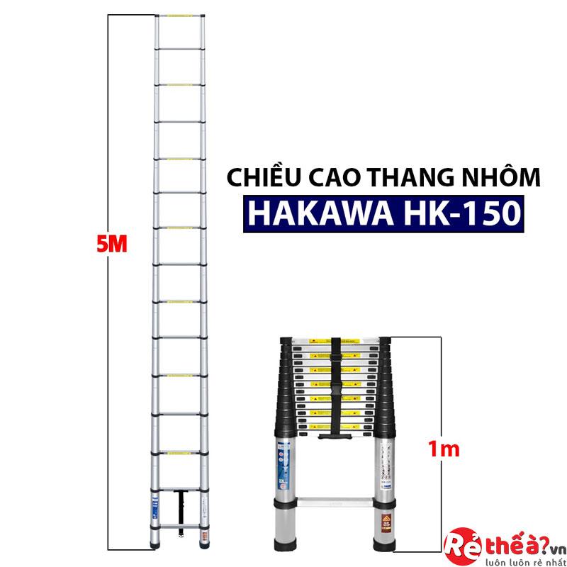 Thang nhôm rút đơn HAKAWA HK-150