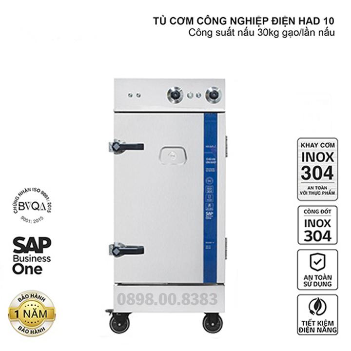 Tủ nấu cơm công nghiệp HAD 10 - Điện 10 khay