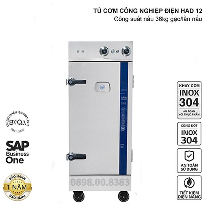 Tủ nấu cơm công nghiệp HAD 12 - Điện 12 khay