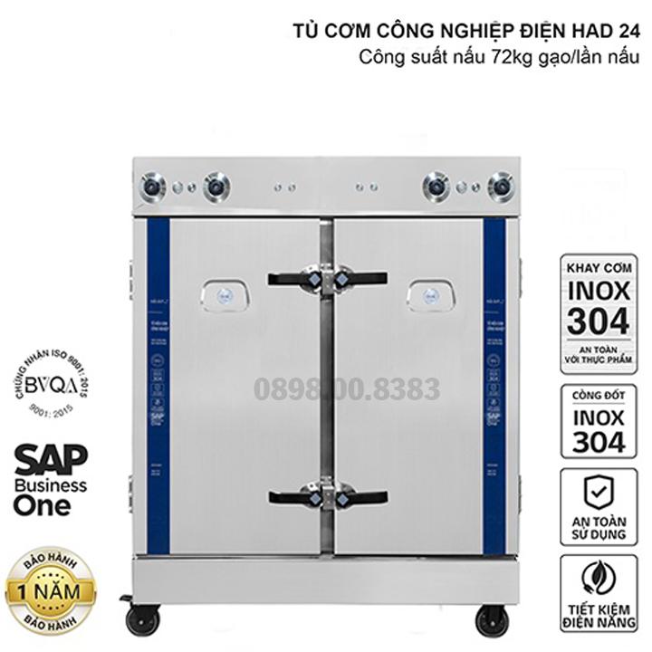 Tủ nấu cơm công nghiệp HAD 24 - Điện 24 khay