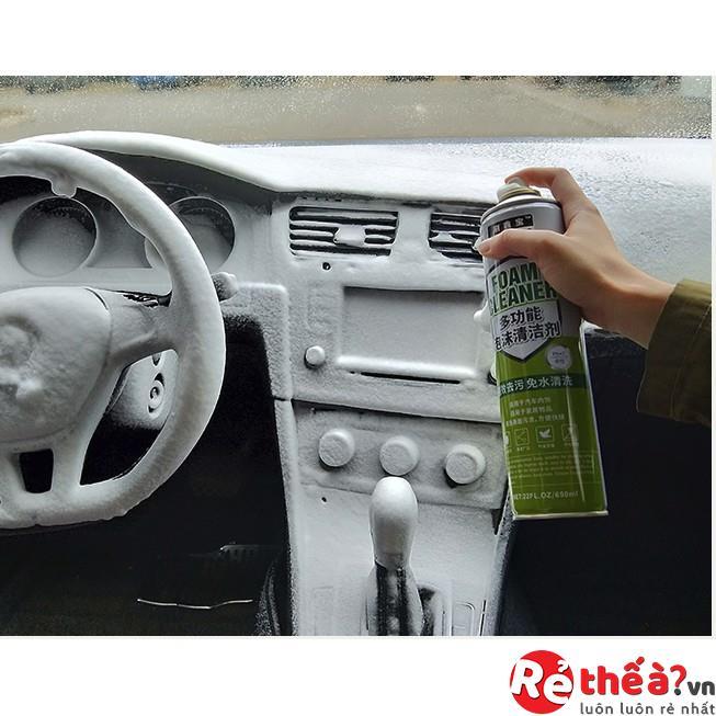 Combo 3 bình xịt đa năng vệ sinh nội thất ô tô FOAM CLEAR
