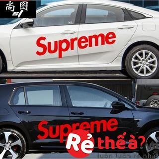 Bộ Decal SUPREME - Decal trang trí thân ô tô độc đáo