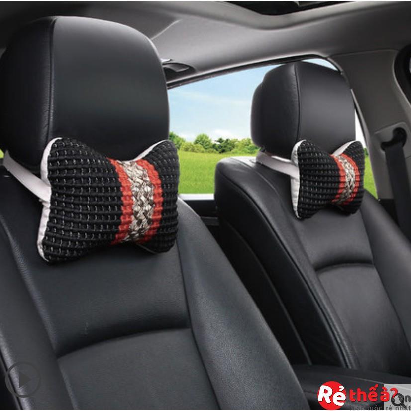 Bộ gối tựa đầu cho xe hơi - Chất liệu vải mát mẻ 4 mùa