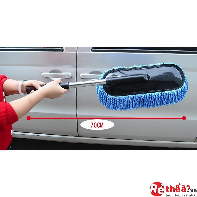 Chổi lau rửa vệ sinh ô tô điều chỉnh được độ dài