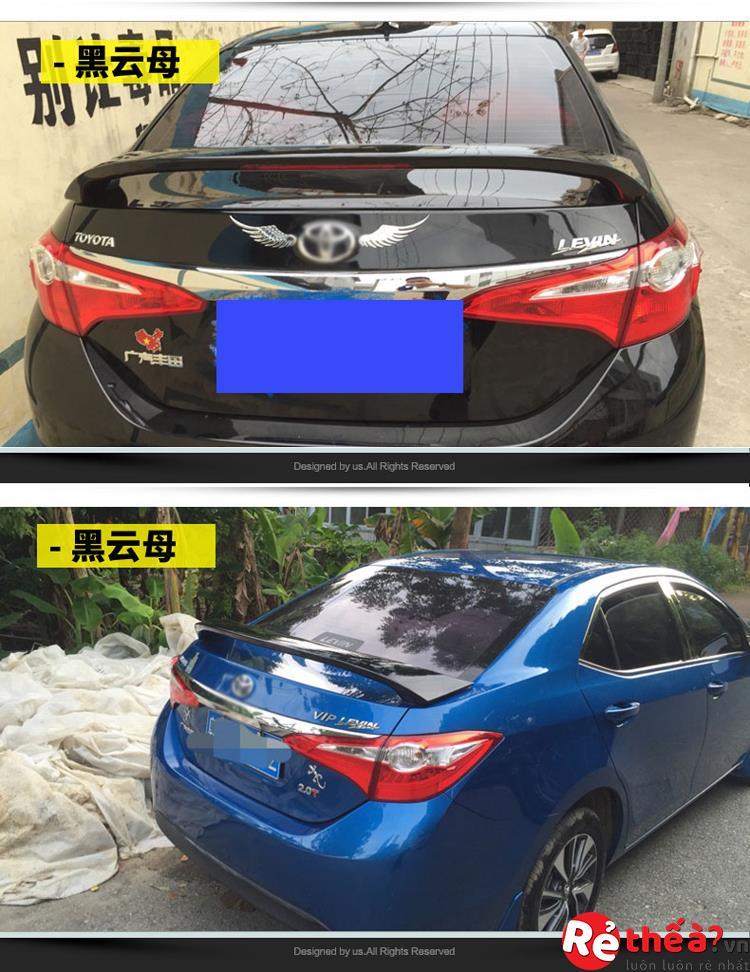 Đuôi Gió Toyota Altis không đèn led – đồ chơi Altis để độ xe đời 2014 – 2018