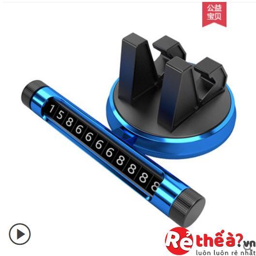 Giá đỡ điện thoại kết hợp với với thanh ghi điện thoại ô tô cao cấp, xoay 360 độ