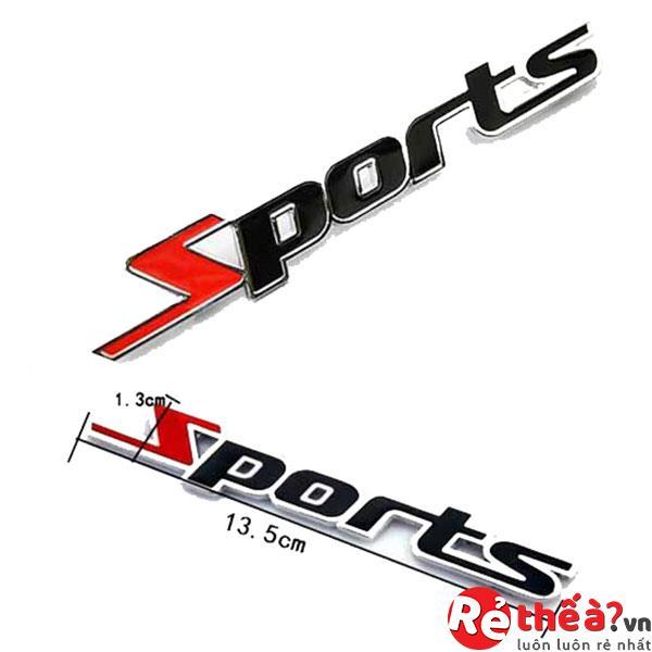 Tem chữ SPORT thể thao dán xe ô tô