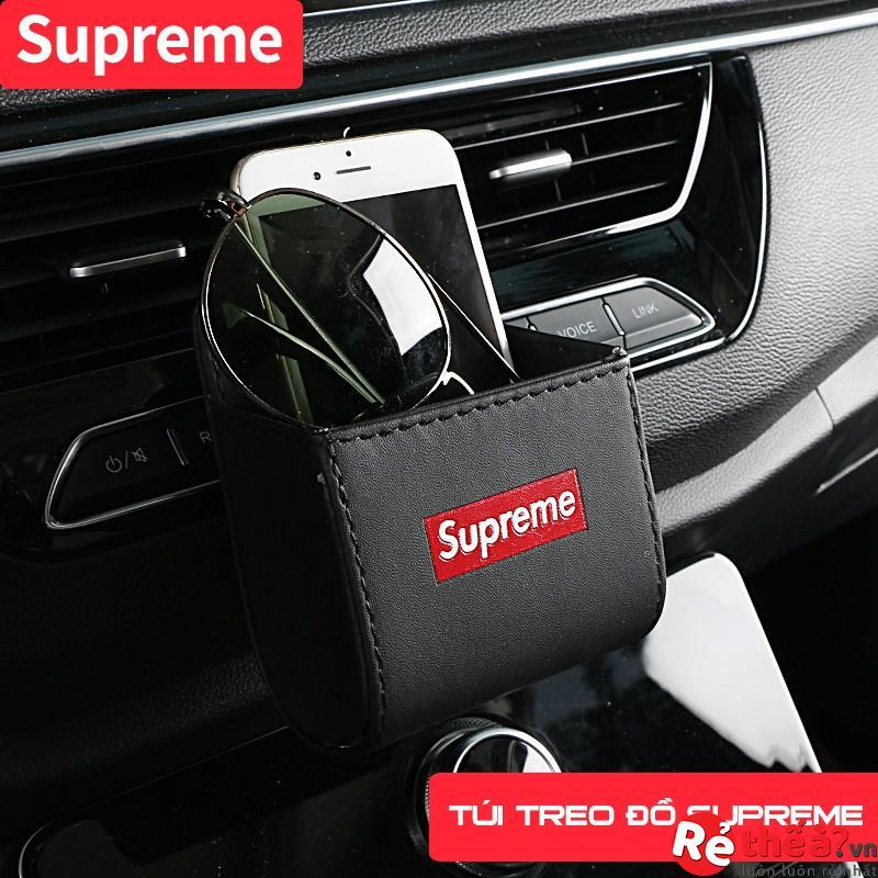 Túi treo đồ trên ô tô SUPREME tiện dụng - Da thật cao cấp
