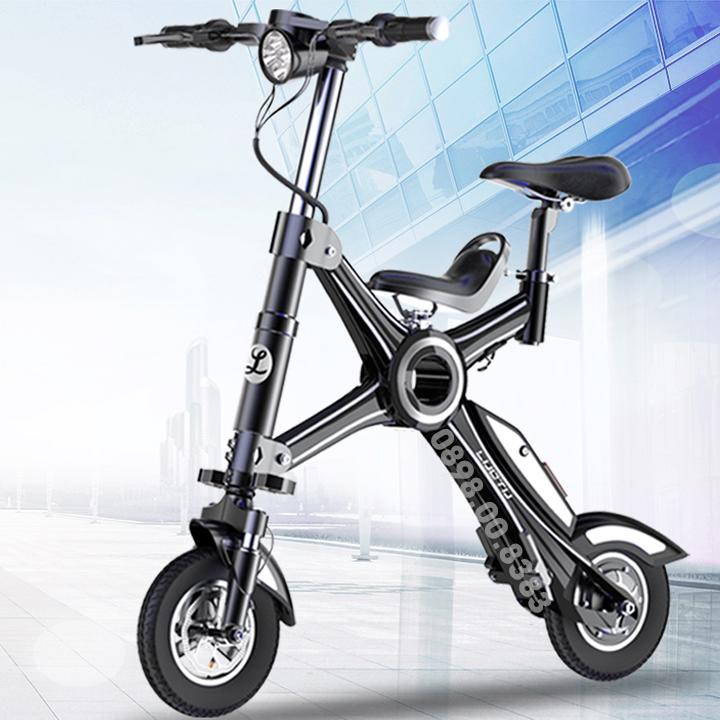 Xe đạp điện thể thao mini yên đôi gấp gọn LUO TU