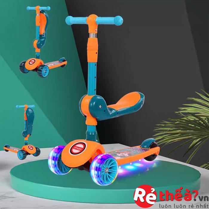 Xe trượt Scooter 2 trong 1 có đèn, nhạc cao cấp