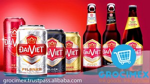 Dai Viet Beer From Vietnam / Black Dai Viet can Beer 5.8% 355ml