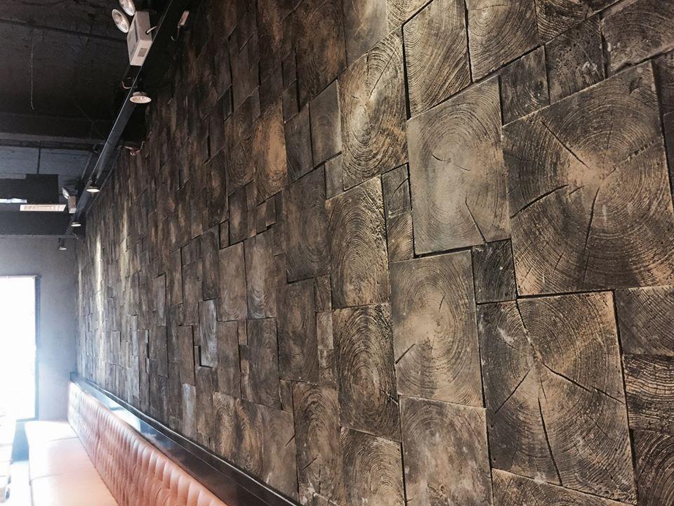 Thi công mài sàn, đánh bóng, bê tông trang trí, gạch bê tông ốp tường tại 106 Yết Kiêu